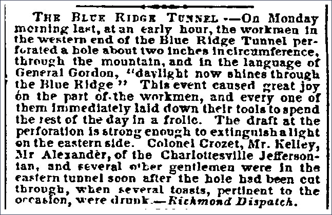 Perforation Announcement, <i>Baltimore Sun</i>, Jan 1857